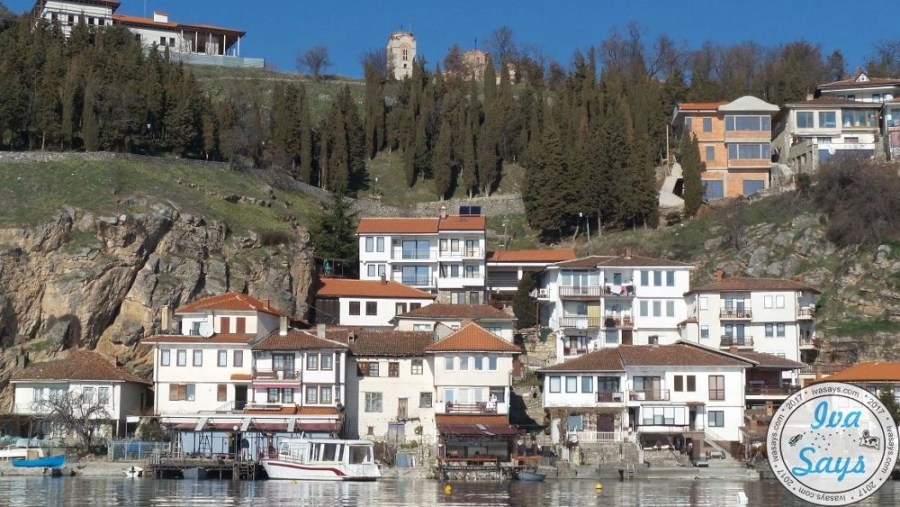 The Kaneo Fisherman Settlement located below the city Ohrid on Lake Ohrid in Macedonia. Famoush for its fisherman known architecture. Travel | Bucket list | Summer destination | romantic travel | Visit Ohrid | Culture travel | Visit Macedonia