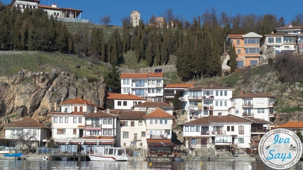 The Kaneo Fisherman Settlement located below the city Ohrid on Lake Ohrid in Macedonia. Famoush for its fisherman known architecture. Travel   Bucket list   Summer destination   romantic travel   Visit Ohrid   Culture travel   Visit Macedonia