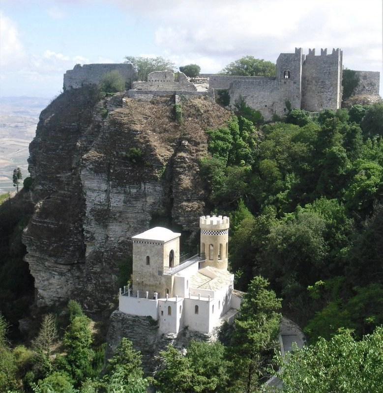 Fortress on a hill in Sicily.