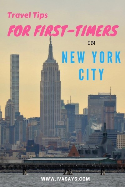 Travel Tips for visiting New York City as a first-timer.