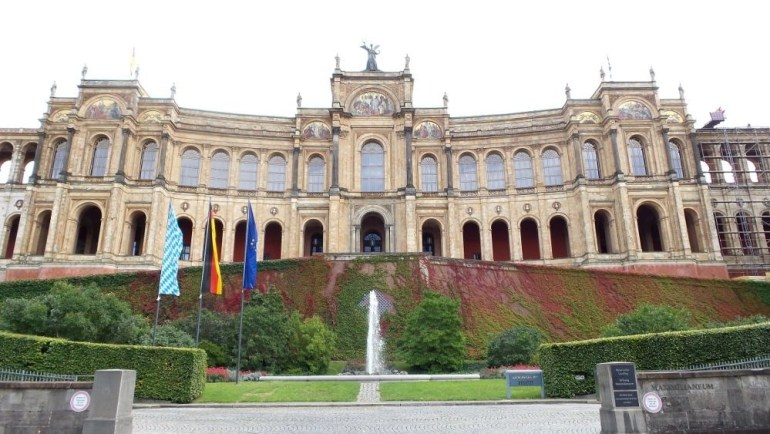 The Maximilianeum building also known as the parliament house in Munich, Germany.
