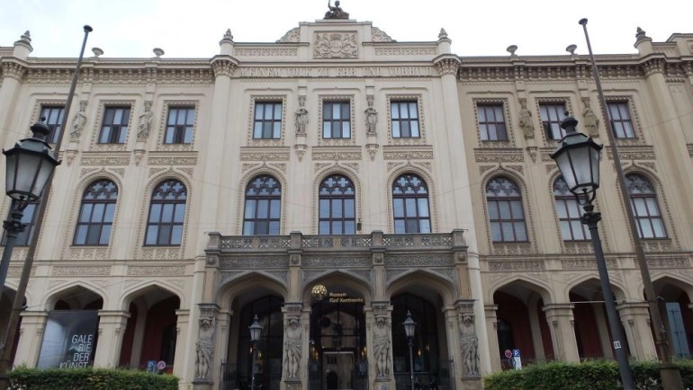 The front of the Museum Five Continents building in Munich, Germany.