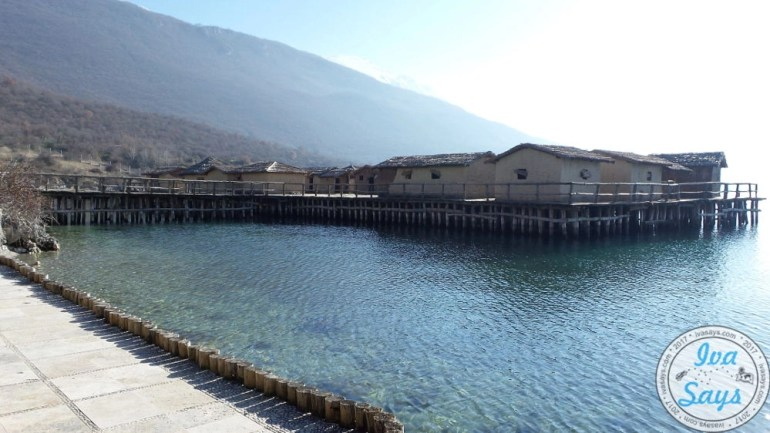 Museum on Water the Bay of Bones in Lake Ohrid, a prehistoric settlement, in Ohrid, Macedonia