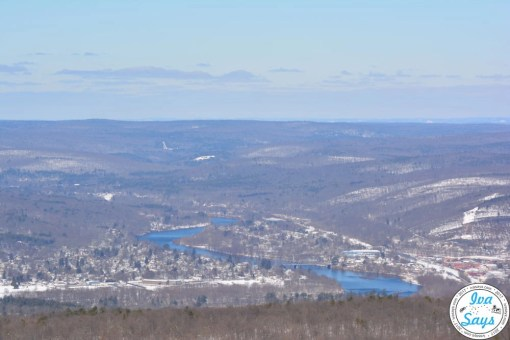 View to Metamoras, PA and Port Jervis, NY from High Point State Park