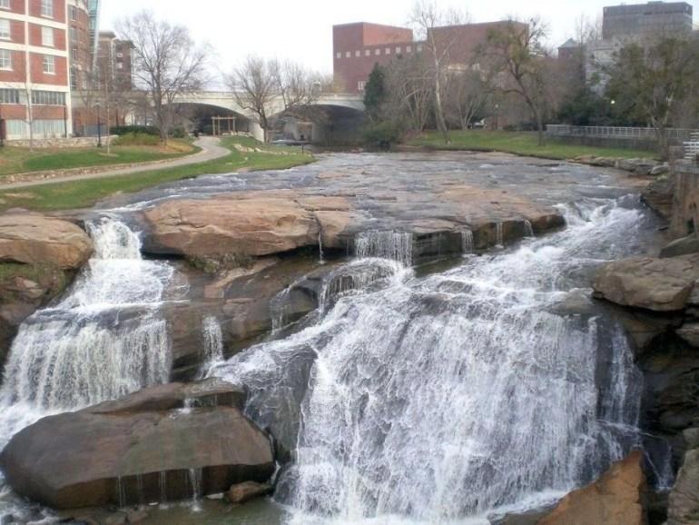 Waterfalls of Reedy in South Carolina