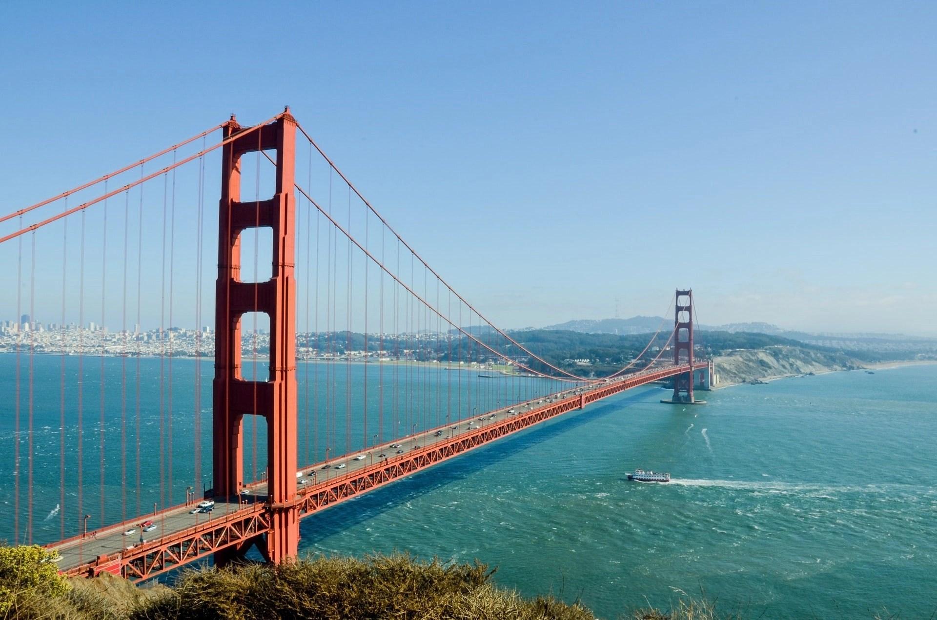 The Golden Gate Bridge in San Francisco, USA.