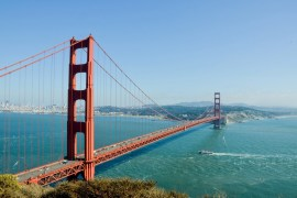 The Golden Gate Bridge in San Francisco, USA.