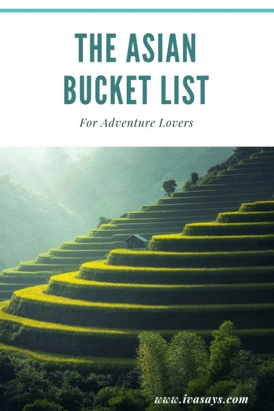 The Asian Bucket List For Adventure Lovers: From Thailand to Japan in Asia. Visiting Volcanoes, climbing 500 steps, and even diving with whales are all part of the bucket list for people that are adventurers and want to experience Asia.
