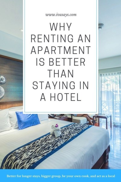 why Renting an Apartment is Better Than Staying in a Hotel? Get the positive benefits of renting an apartment versus spending your money to stay in a hotel.