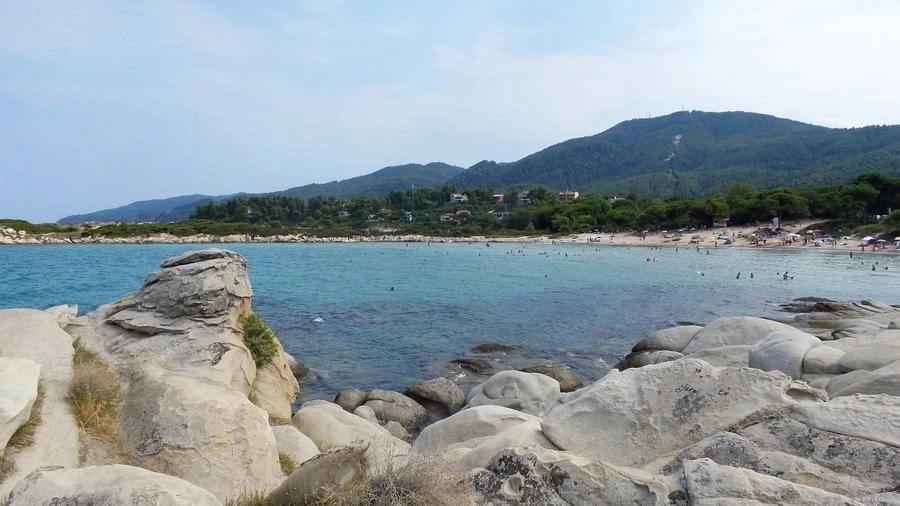 Karydi Beach in Sithonia, Chalkidiki, Greece is a great place for snorkeling and family friendly.