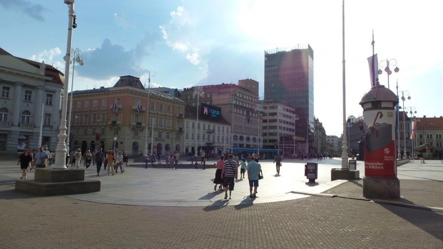 People around Bana Jelacica Square in Zagreb