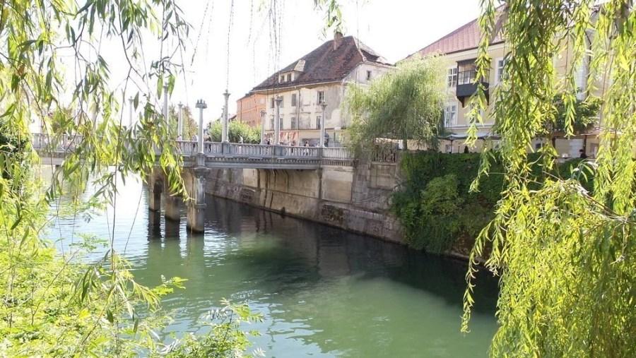 Cobbler's Bridge in Ljubljana.