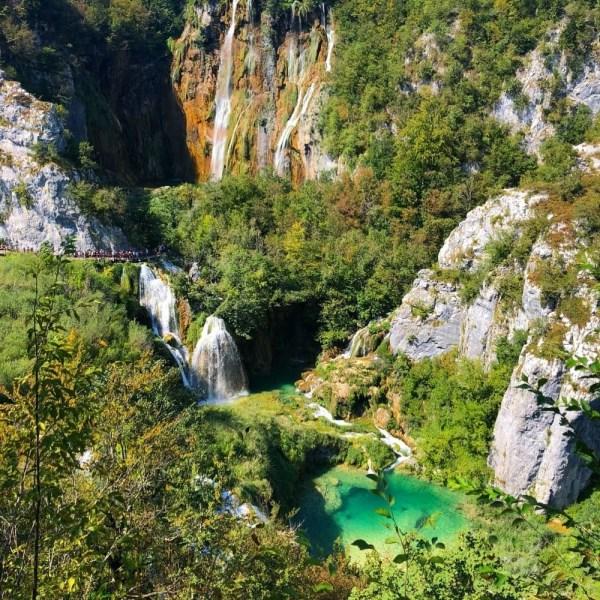 Plitvici Lakes the popular nature tourist destination in Croatia.