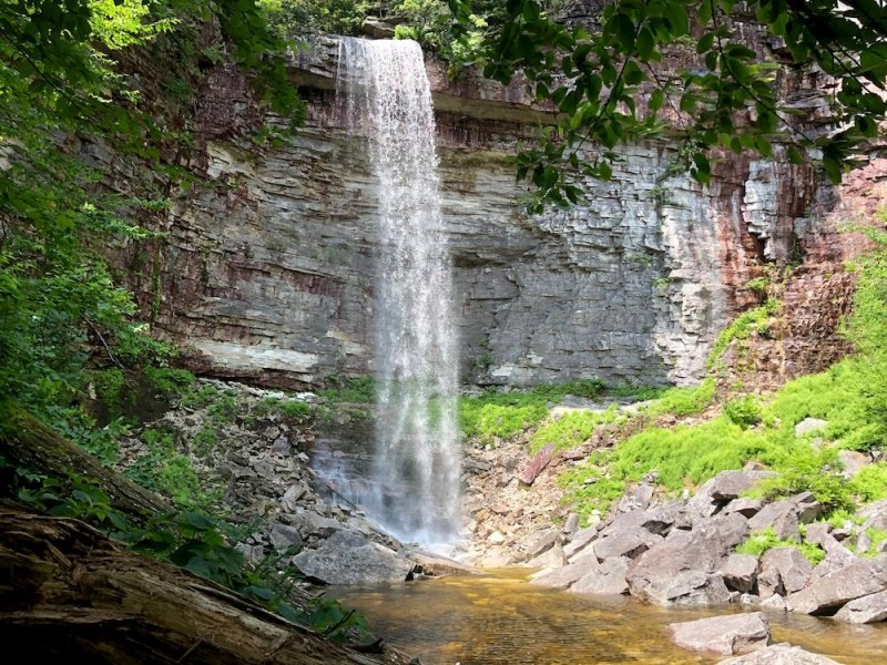Waterfall in New York State.
