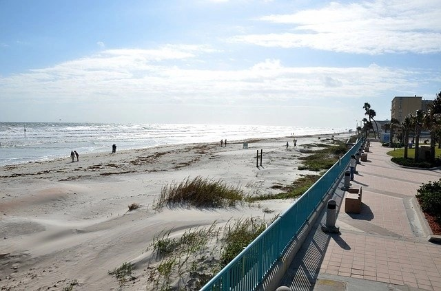 Boardwalk along Daytona Beach in Florida.