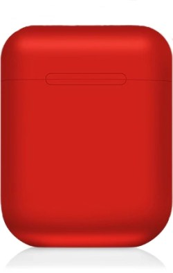 Red Wireless Bluetooth Headphones in Charge Case