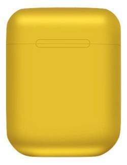 Yellow Wireless Bluetooth Headphones in Charge Case