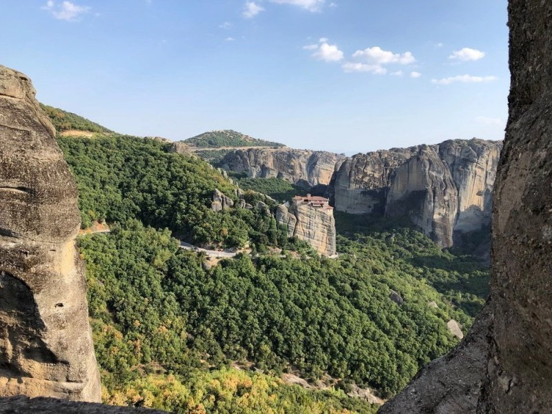 The Roussanou Monastery and Nunnery in Meteora