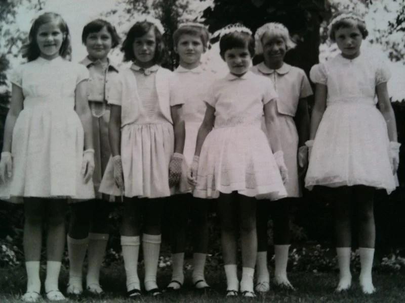 51 Eerste H Communie meisjes 1  Ivdvariatienl