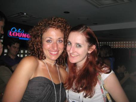 Producer/ Host- Jenn Dodd and Producer/Techie- Sharon Jamilkowski at the Live Show on July 24th, 2010.