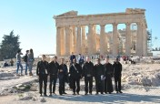 IVE's seminarians at Parthenon in Athens