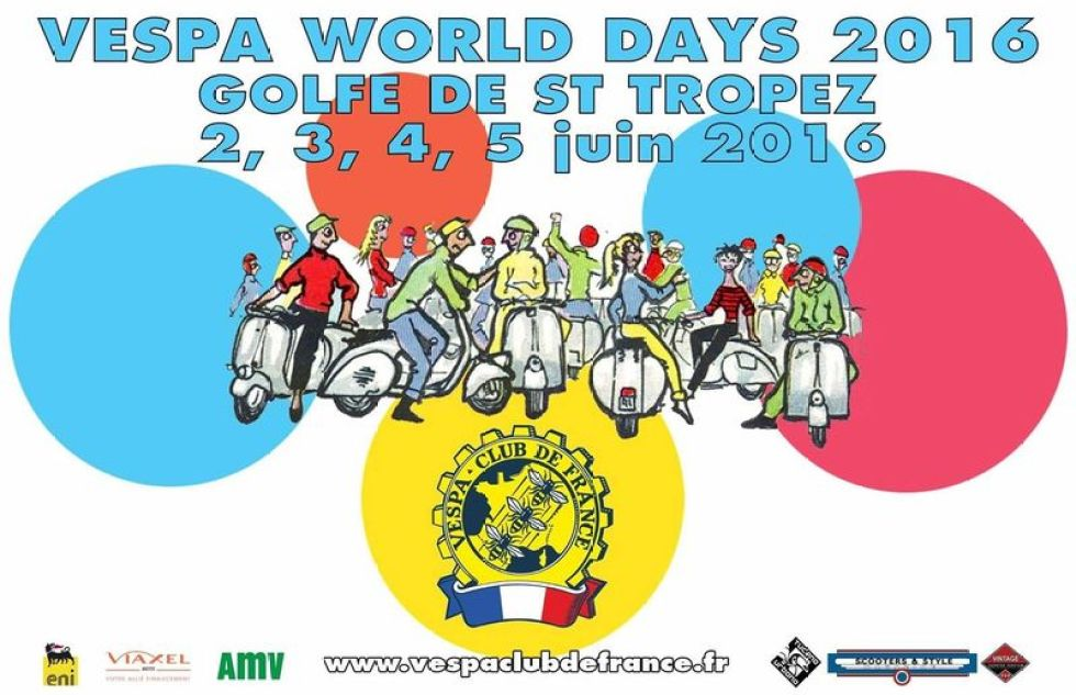 poster for the Vespa World Days 2016 St Tropez France