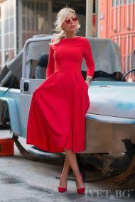 φόρεμα JASMINA RED - 1