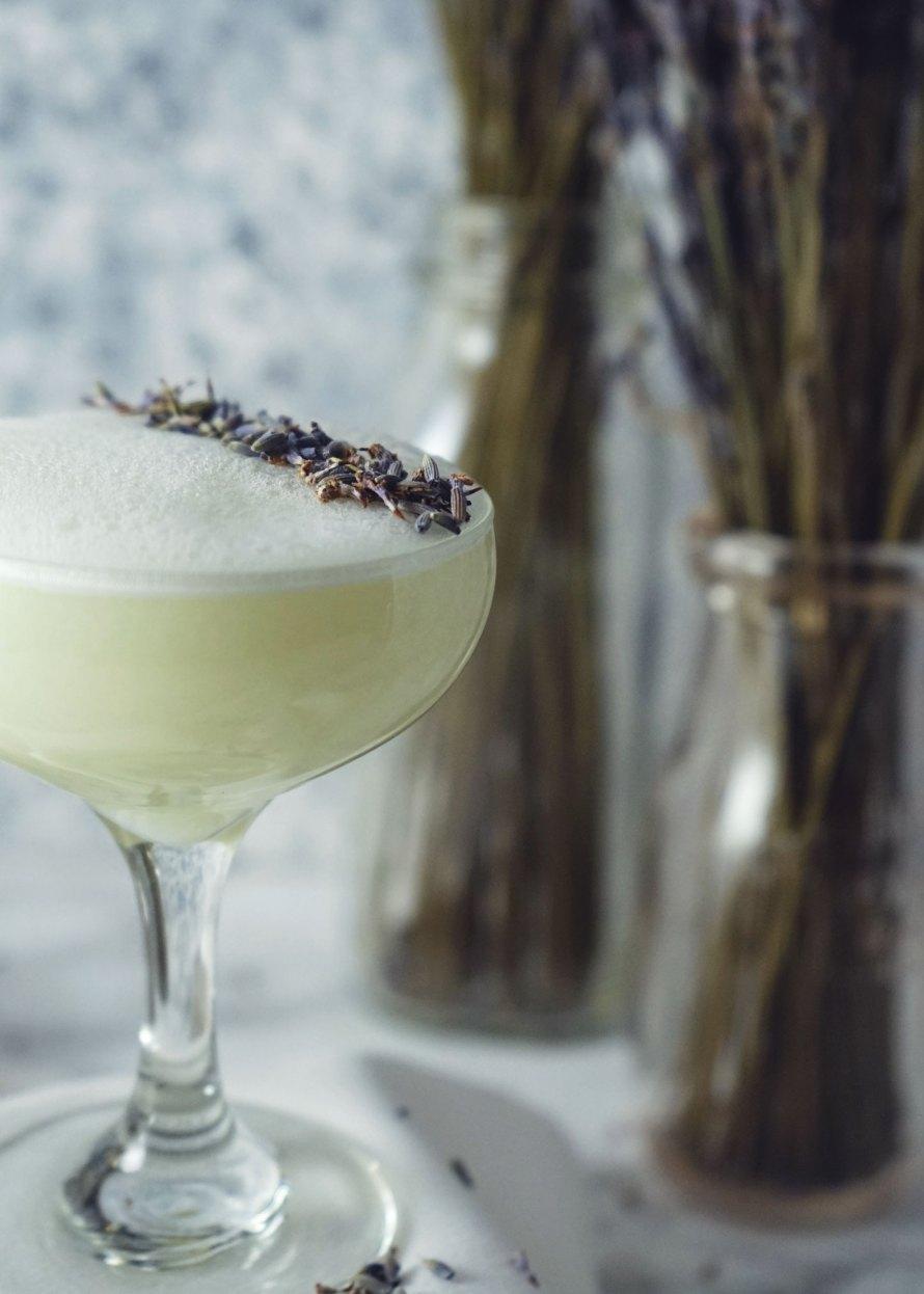 Lavender Fizz Martini