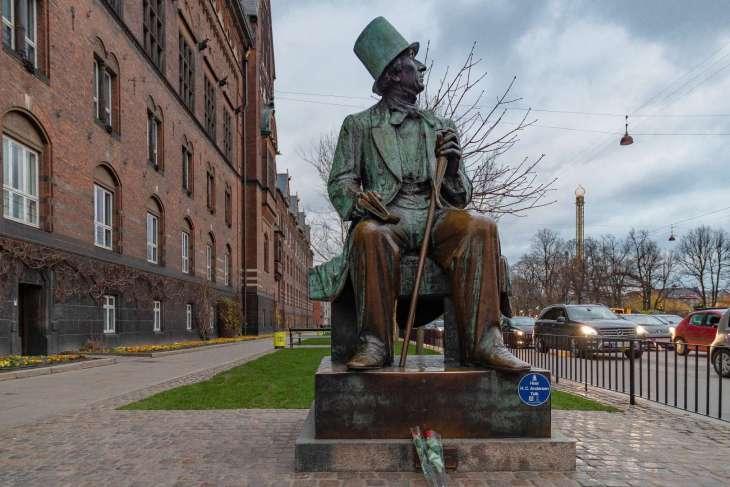 statua di Andersen Copenaghen