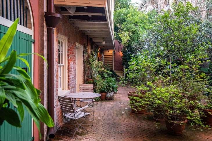 il giardino del Soniat House nel Quartiere Francese