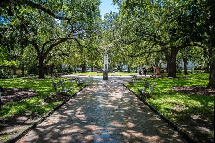 giardini ombreggiati a Charleston