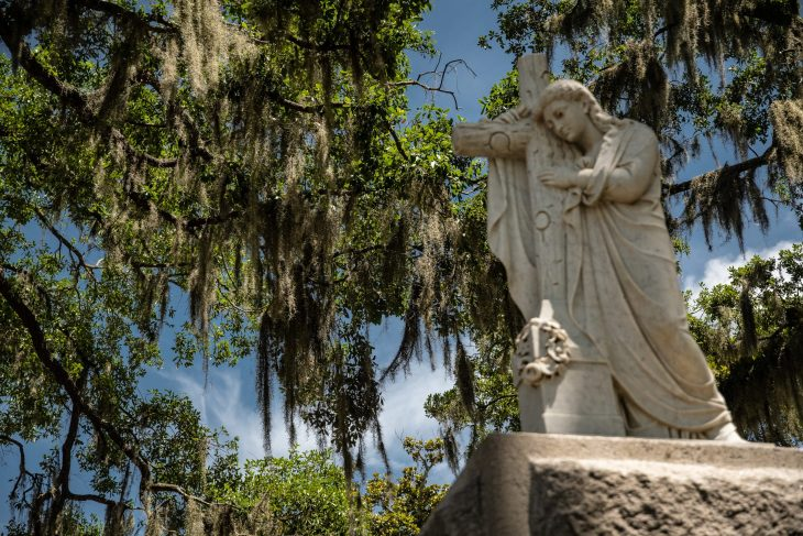 Cimitero di Savannah Deep South degli Stati Uniti