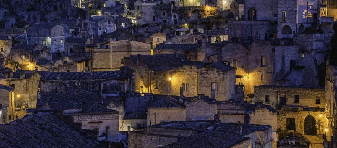 I sassi di Matera all'imbrunire