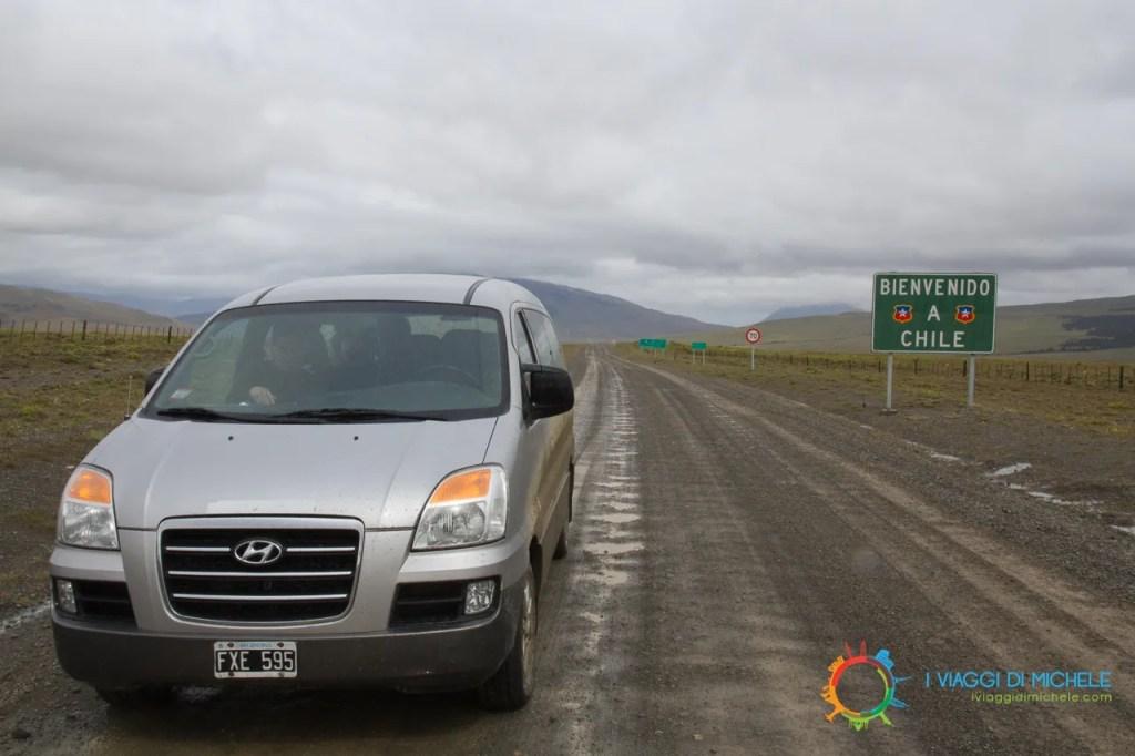 Minivan noleggiato in Cile