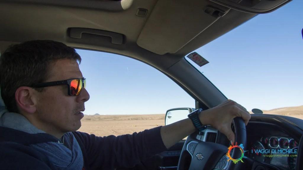 Guido in direzione San Pedro de Atacama