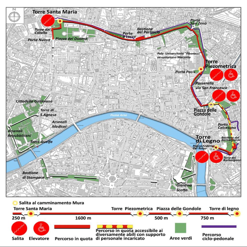 Mappa ©AMUR - Associazione per le Mura di Pisa