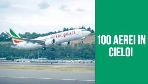 Ethiopian Airlines 100 aerei in cielo - Immagine articolo