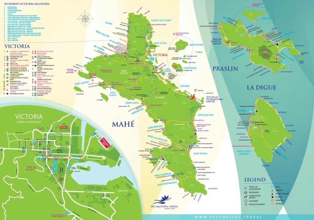 Mappa Seychelles lato 1