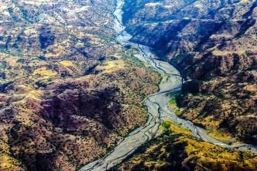 Etiopia paesaggio dall'alto