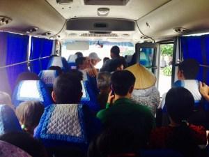 Viaggio autobus a Son Dong - An Lac Vietnam