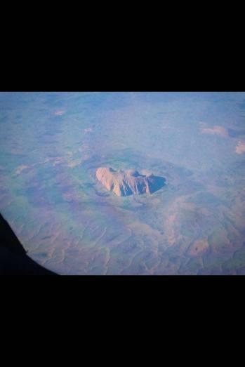 Ayers Rock dal finestrino in volo Australia