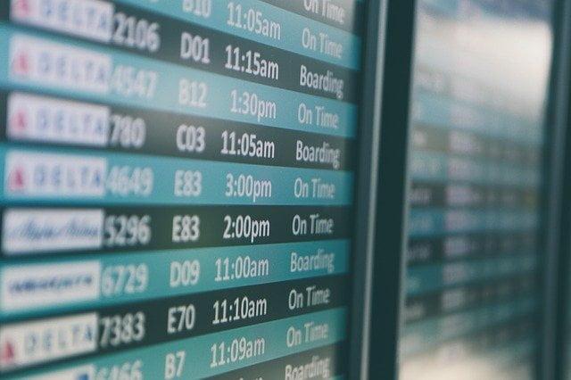 tabellone orari viaggio