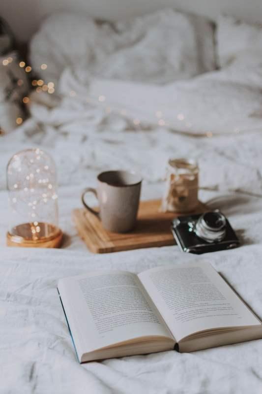 libri sul letto