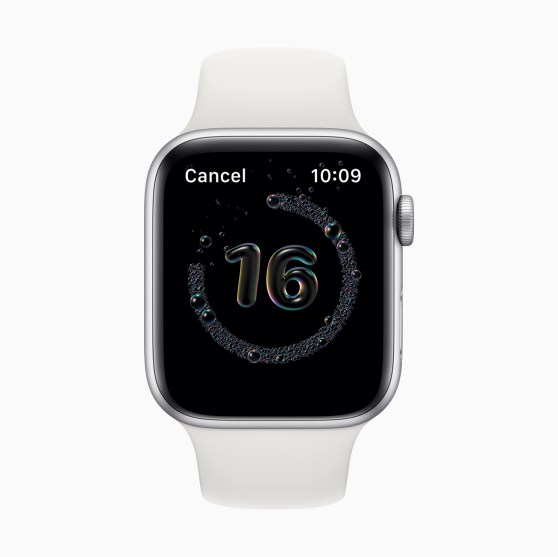 watchOS 7 Hand Washing