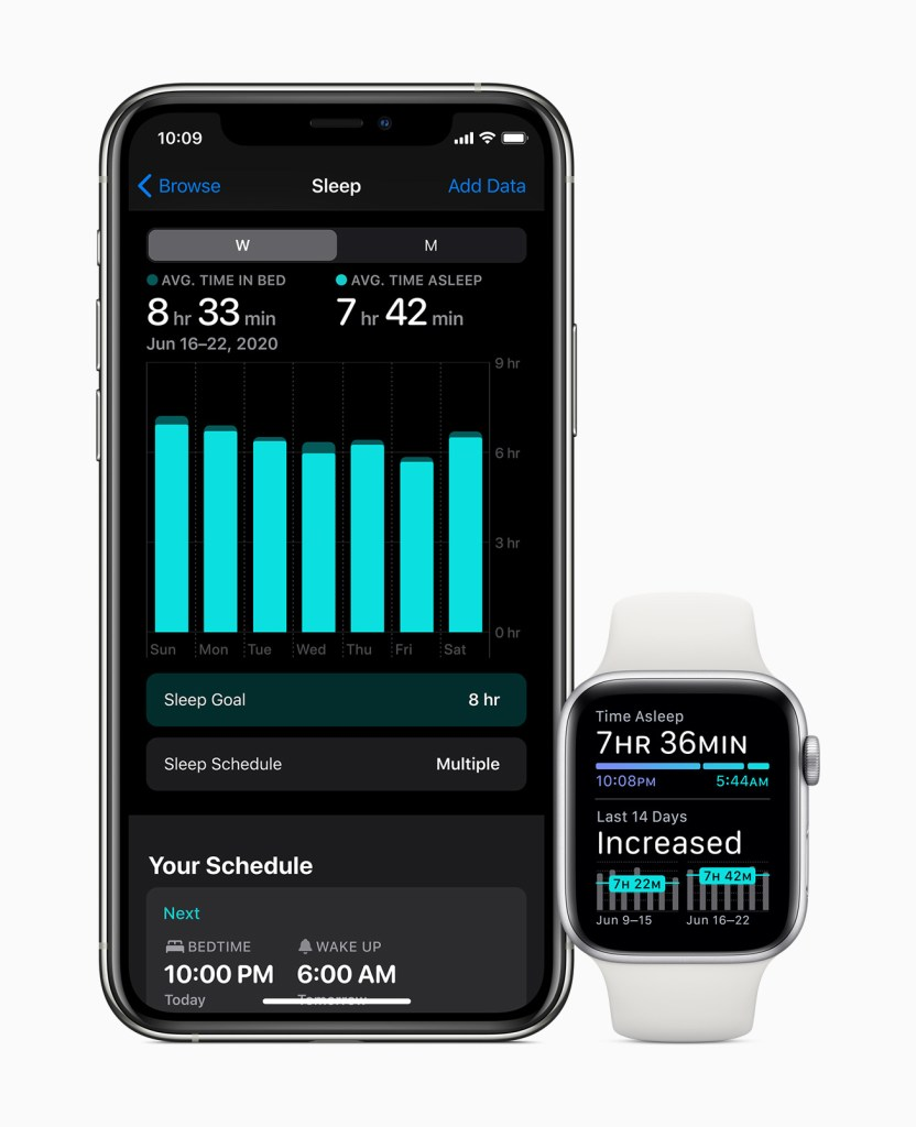 watchOS 7 Sleep Tracking