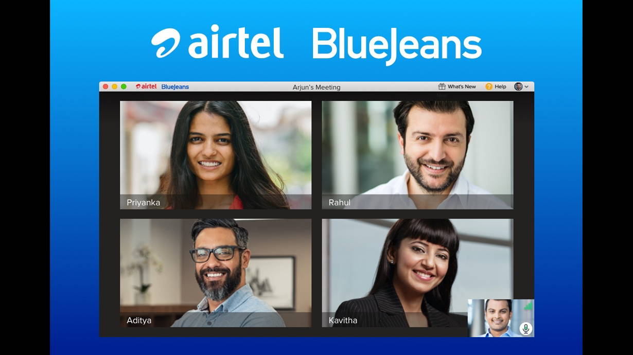 """Airtel and Verizon Brings """"Airtel BlueJeans"""" Video Conferencing Service in India"""