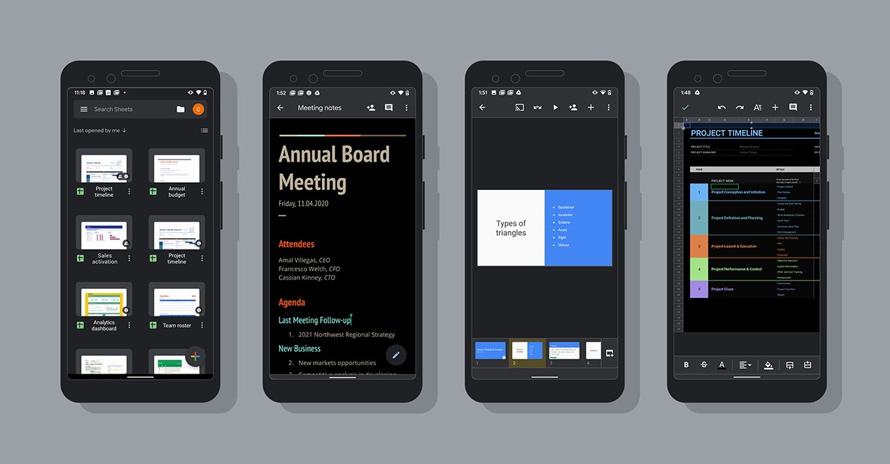 Google Docs, Sheets, and Slides now Support Dark Theme on Android