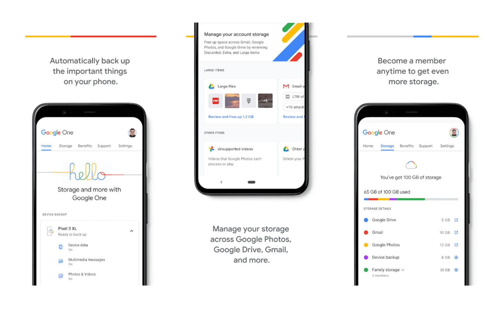 Google One Added Free Automatic Phone Backup for Android and iOS