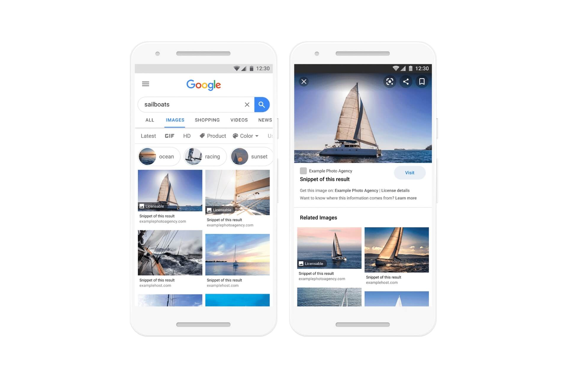 Google making changes in image licensing information on Google Images