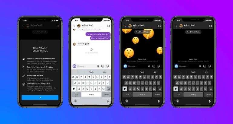 How to activate Vanish Mode in Messenger and Instagram